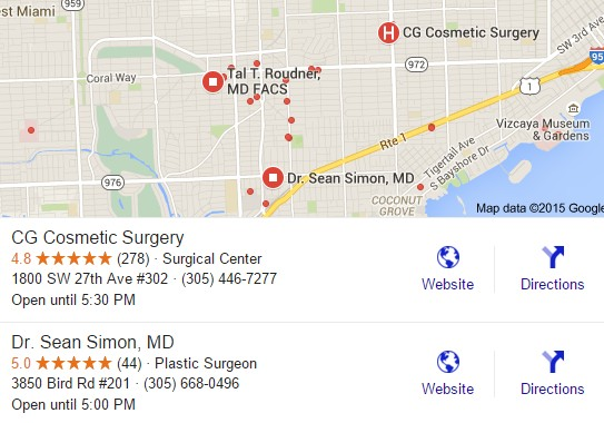plastic surgeon seo reviews of Google