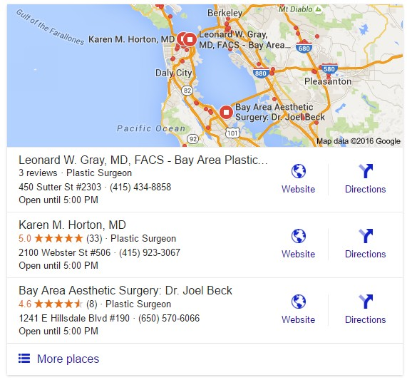 plastic surgeons bay area seo