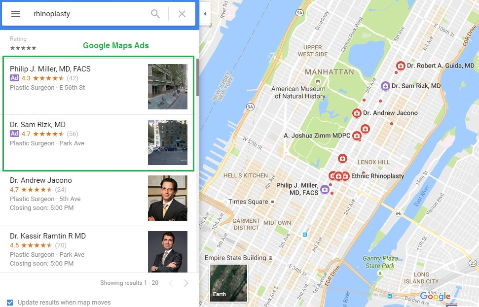 Ads to Supplement Google Maps marketing